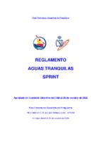 REGLAMENTO DE AGUAS TRANQUILAS – SPRINT 2020
