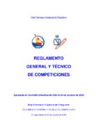 REGLAMENTO GENERAL Y TÉCNICO DE COMPETICIONES 2020