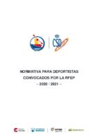 Normativa deportistas RFEP 2020-21