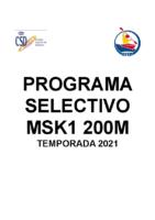 PROGRAMA SELECTIVO 2021 MSK1