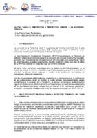 CIRCULAR Nº 13 2021 PAUTAS PREVENCION Y PROTECCION FRENTE AL COVID-19