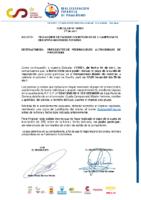 CIRCULAR Nº 19 2021 FECHA LÍMITE INSCRIPCIÓN EN EL LI CAMPEONATO DE ESPAÑA MASTER DE INVIERNO