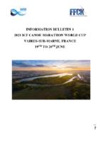 BULLETIN – 2021 CANOE MARATHON WORLD CUP FRANCE