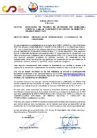 CIRCULAR Nº 21 REALIZACÓN DE PRUEBAS DE DETECCIÓN DEL SARS-COV-2 COVID-19 PARA EL CAMPEONATO DE ESPAÑA DE MARATÓN Y PRUEBAS SELECTIVAS