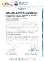 CIRCULAR Nº 28 2021 CAMBIO INSCRIPCIONES POR COVID Y SEGURIDAD PALISTAS DE PARACANOE CTO. ESPAÑA SPRINT OLIMPICO 2021