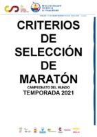 CRITERIOS MARATON CTO. MUNDO