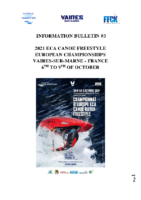 BULLETIN 2021 ECA CANOE F REESTYLE EUROPEAN CHAMPIONSHIPS VAIRES