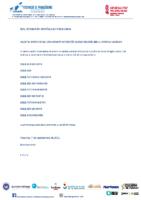 Orden de salidas 1ª Copa de España B. Dragón 200 m