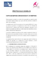 PROTOCOLO COVID COPA DE ESPAÑA DRAGON BOAT